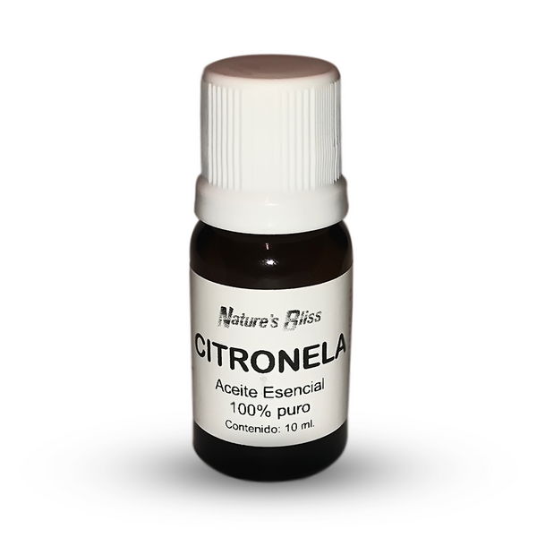 Citronela Aceite Esencial – 10 ml. 100% Puro / 100% Natural