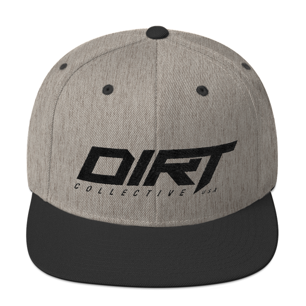DC USA Black on Gray Snapback