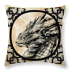Dragon Smaug Pen and Ink Artwork Pillow