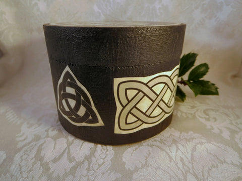 Round Celtic Dragon Box Side
