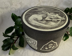 Round Celtic Dragon Box