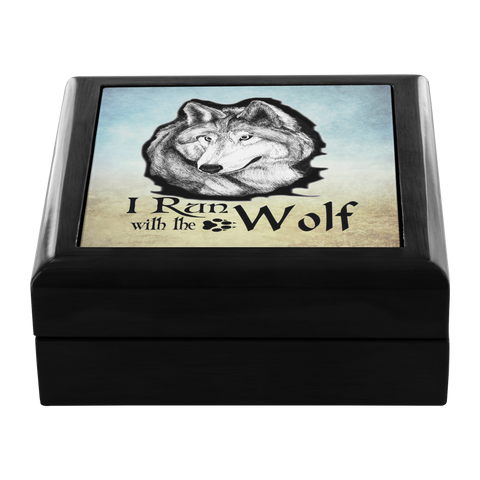 I Run With The Wolf Keepsake Box