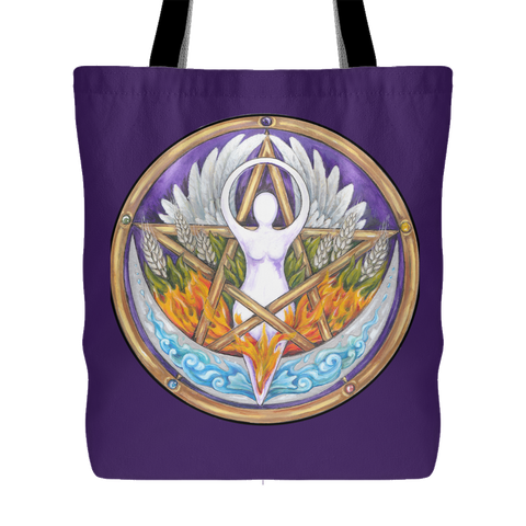 Elemental Goddess Pentacle Tote Bag