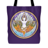 Purple Goddess Pentacle Tote Bag