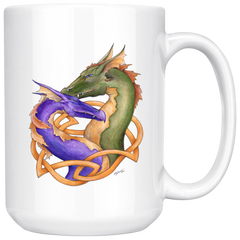Double Dragon Purple and Green Mug
