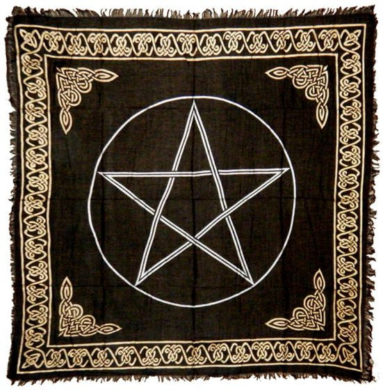 Black Pentacle Altar Cloth 36 x 36