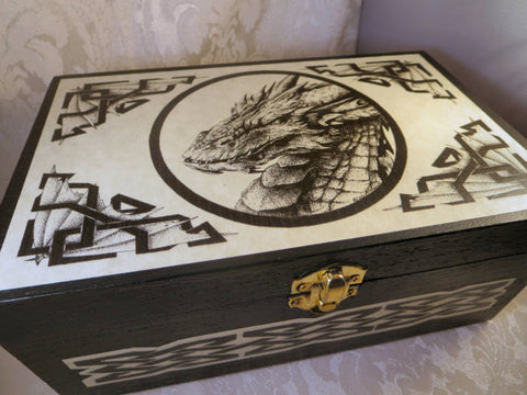 Dragon Smaug Wooden Box