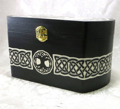 Celtic Horse Large Wood Box Side