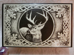 Celtic Stag Box Top