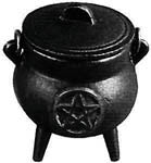 Mini Cast Iron Pentacle Cauldron