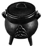 Mini Cast Iron Triquetra Cauldron