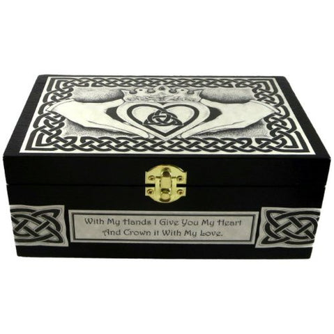 Celtic Claddagh Box With Custom Message