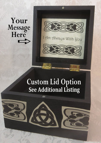 Custom Message Option for Celtic Wolf Box