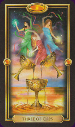 Easy Tarot Three of Cups