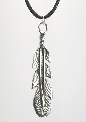 Feather Pewter Pendant