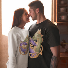 White Crewneck Dragon Love Sweatshirt