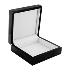 Inside of Black Wooden Jewelry Box