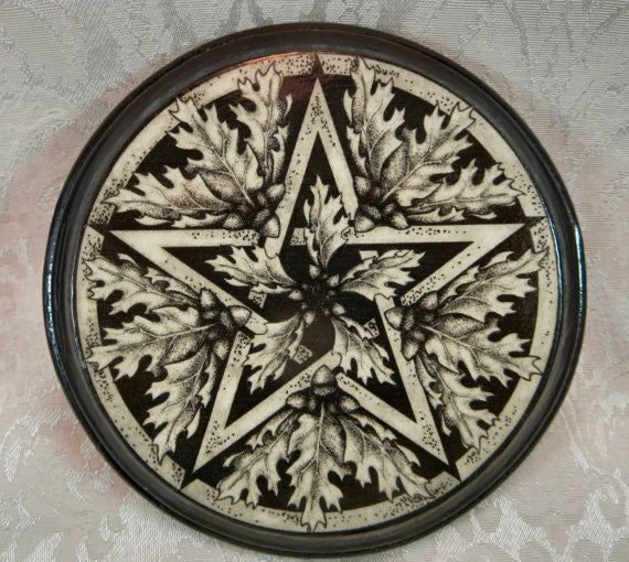 Oak Pentacle Paton Plaque by Melanie Fuller
