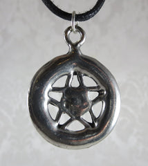 Pewter Pentacle Back