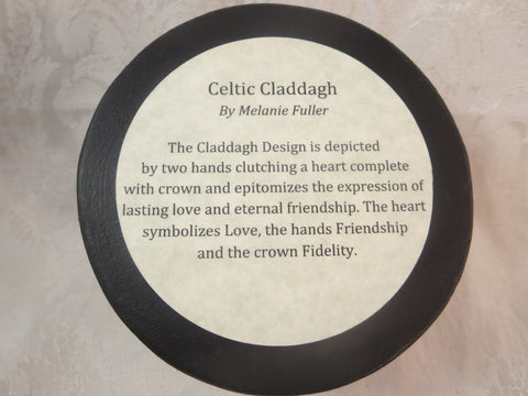Round Celtic Claddagh Box Bottom