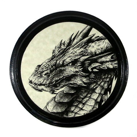 Dragon Smaug Wooden Plaque, Fantasy Pagan Wall Art Decor