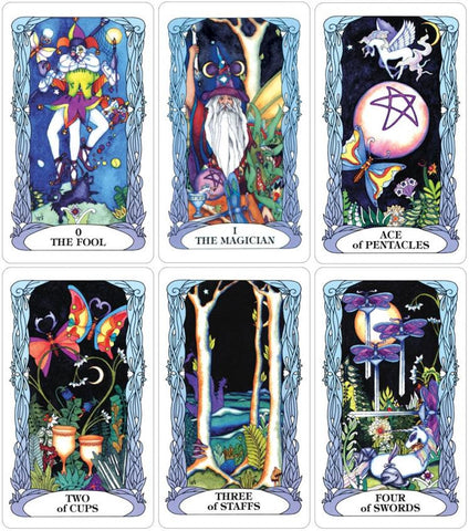 Tarot of a Moon Garden Cards Sample