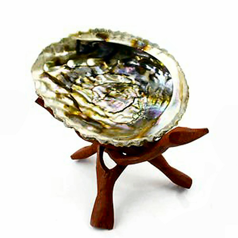 Tripod Stand with Abalone Shell for Smudging