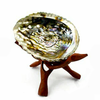 Carved Wooden Tripod Stand for Abalone Shell