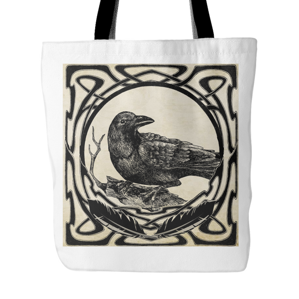 Celtic Raven Tote Bag