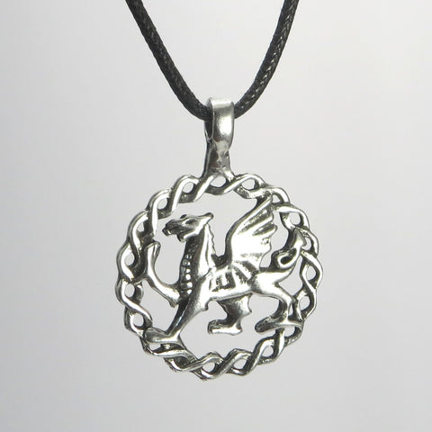 Welsh Dragon Pewter Pendant