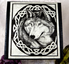 Celtic Wolf Box close up top