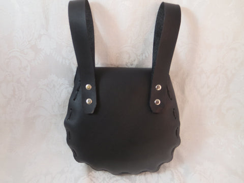 Black Leather Belt Bag Back