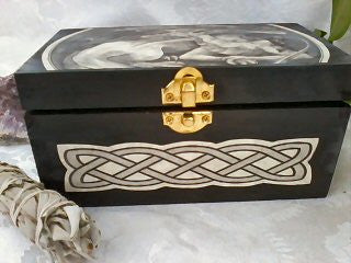 Dragon Tarot Box with Celtic Knots by Melanie Fuller - Original Art Handmade