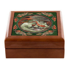 Light Wood Autumn Dragon Trinket Box