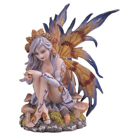 Blue autumn Fairy Statue