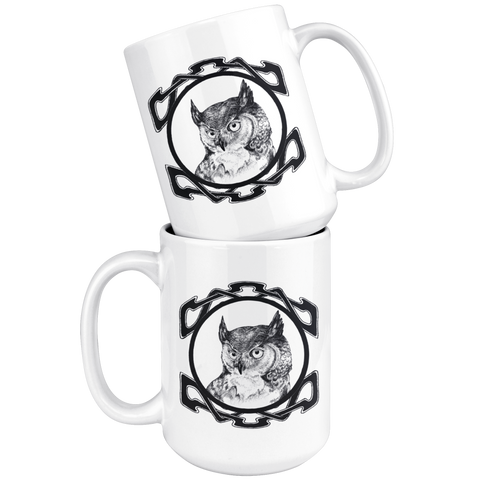 Celtic Owl 15 oz Mug