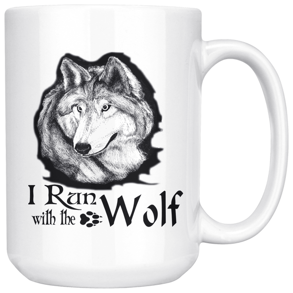Run With The Wolf 15oz Mug