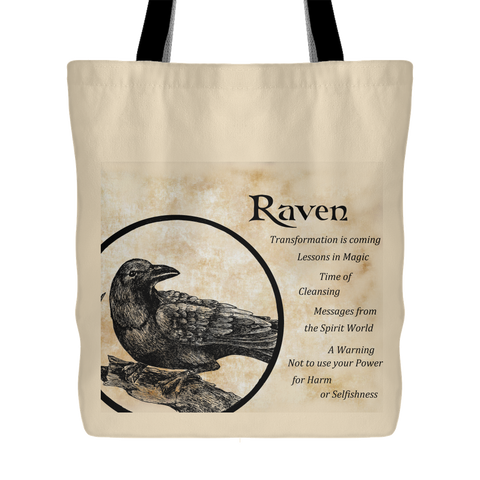Raven Totem Tote Bag Exclusive Dragon Star Creations