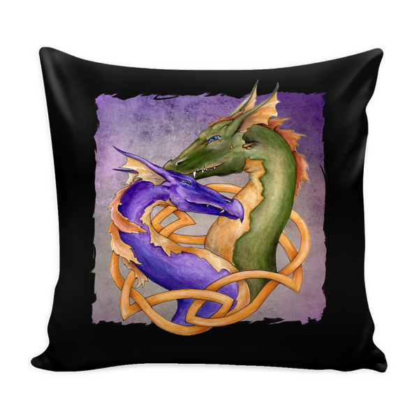 Forever Love Double Dragon Pillow Cover