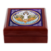 Elemental Goddess Pentacle Wooden Jewelry Trinket Box