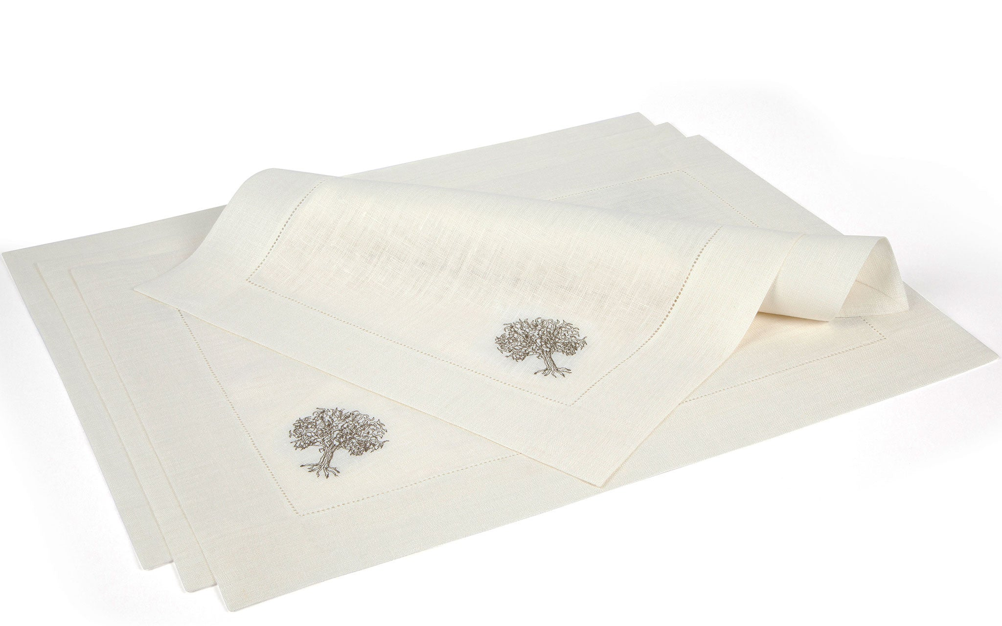 Tree of Life Placemats Hemstitched