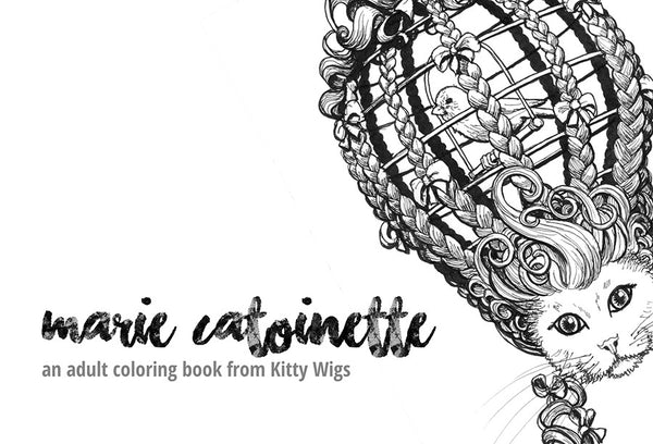 Five Marie Catoinette color-able postcards