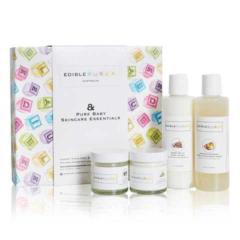 Edible Bubba Pure Baby Skincare Essentials Set