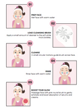 Fitglow Beauty Face Cleansing Brush guide