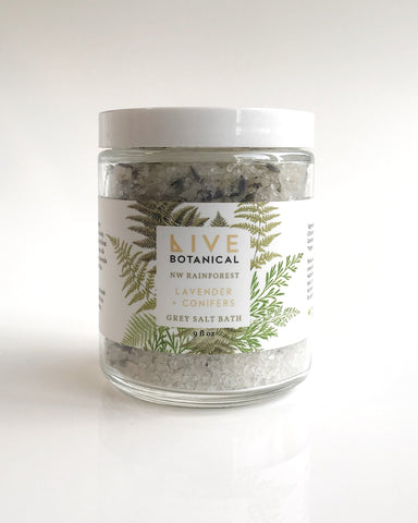 Live Botanical NW Rainforest Salt & Grain Bath