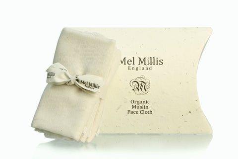 Mel Millis Organic Muslin Face Cloth 3 Pack