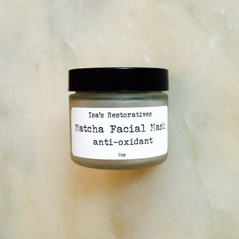 Isa's Restoratives Matcha Detoxifying Facial Mask