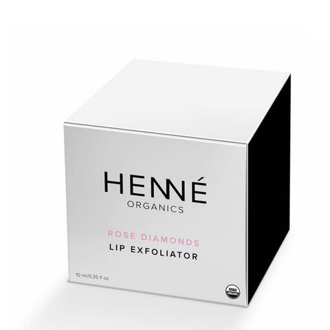Henné Organics Luxury Organic Lip Exfoliator - Rose Diamonds