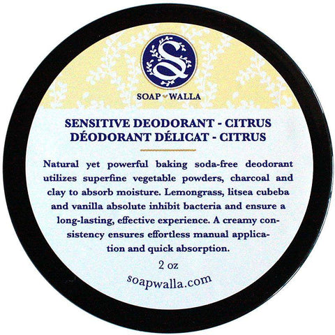 Soapwalla Sensitive Skin Deodorant Cream - Citrus