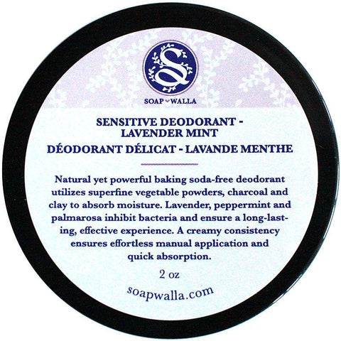 Soapwalla Sensitive Skin Deodorant Cream - Lavender Mint